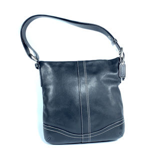 Coach F10938 Crossbody Leather Cross Over Bag Tote